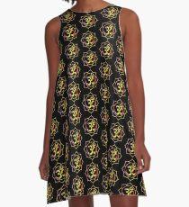 Colourful Lotus Aum A-Line Dress