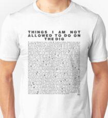 Skippy's List Archaeology edition Unisex T-Shirt