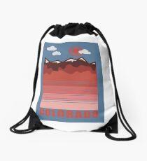 Colorado Mountain Sunset Drawstring Bag