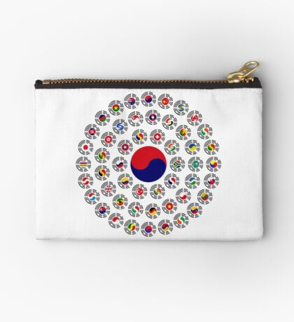 We Are Korea Multinational Patriot Flag Collective 1.0 Zipper Pouch