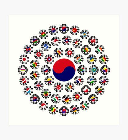 We Are Korea Multinational Patriot Flag Collective 1.0 Art Print