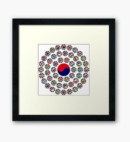 We Are Korea Multinational Patriot Flag Collective 1.0 Framed Print
