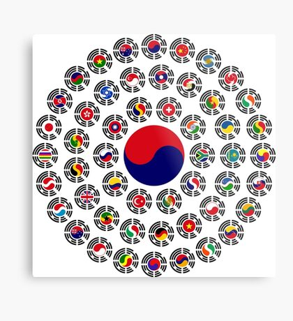 We Are Korea Multinational Patriot Flag Collective 1.0 Metal Print