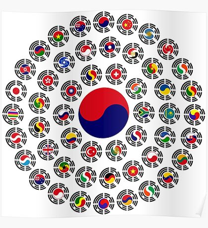 We Are Korea Multinational Patriot Flag Collective 1.0 Poster