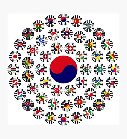 We Are Korea Multinational Patriot Flag Collective 1.0 Photographic Print