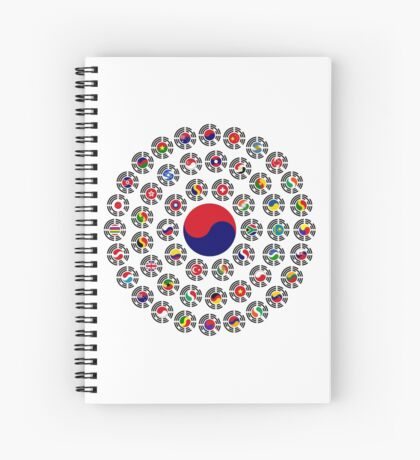 We Are Korea Multinational Patriot Flag Collective 1.0 Spiral Notebook