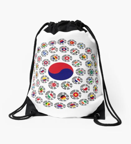 We Are Korea Multinational Patriot Flag Collective 1.0 Drawstring Bag
