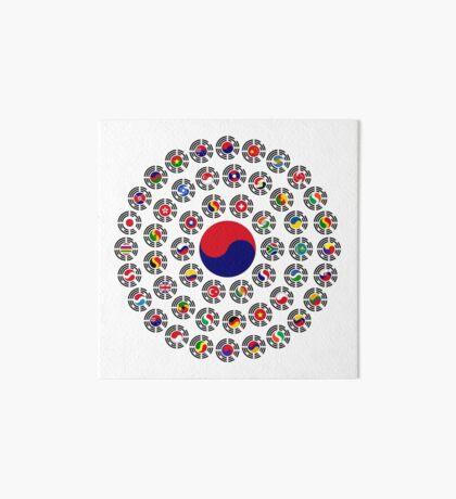 We Are Korea Multinational Patriot Flag Collective 1.0 Art Board
