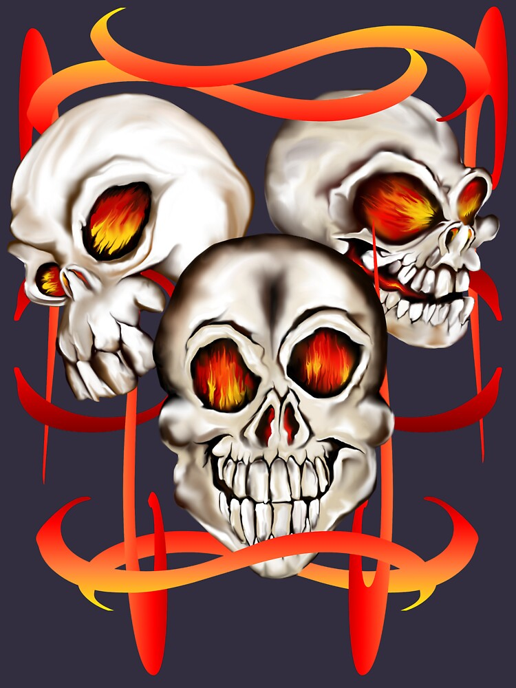 Three Fiery Skulls by Lotacats