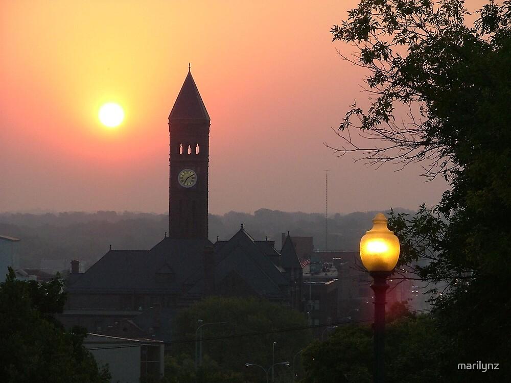 Clocktower at Dawn  by marilynz
