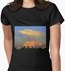Clouds formations as an eagle Women's Fitted T-Shirt