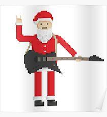pixel Santa Claus  Poster