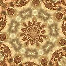 Molten Gold Fractal Mandala Kaleidoscope Abstract 2 by Artist4God