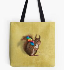 Squirrel with lollipop Tote Bag