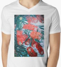 BOTTLE BRUSH FLOWER Men's V-Neck T-Shirt