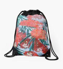 BOTTLE BRUSH FLOWER Drawstring Bag