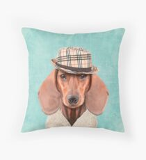 Mr Dachshund Throw Pillow