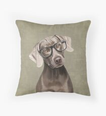 Mr Weimaraner Throw Pillow
