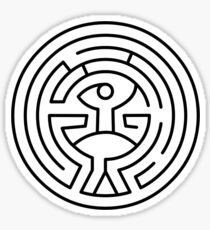 westworld maze Sticker