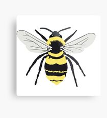Bumble Bee on Transparent Background Metal Print