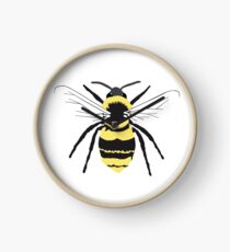 Bumble Bee on Transparent Background Clock