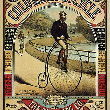 Vintage Bicycle Poster - Columbia Bicycle by whitneykayc