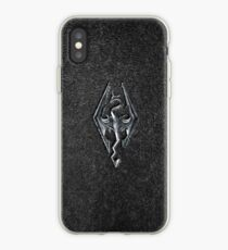 Skyrim Logo - Iron Embossed in Granite iPhone Case