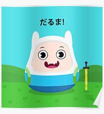 Daruma Finn Adventure Time Poster