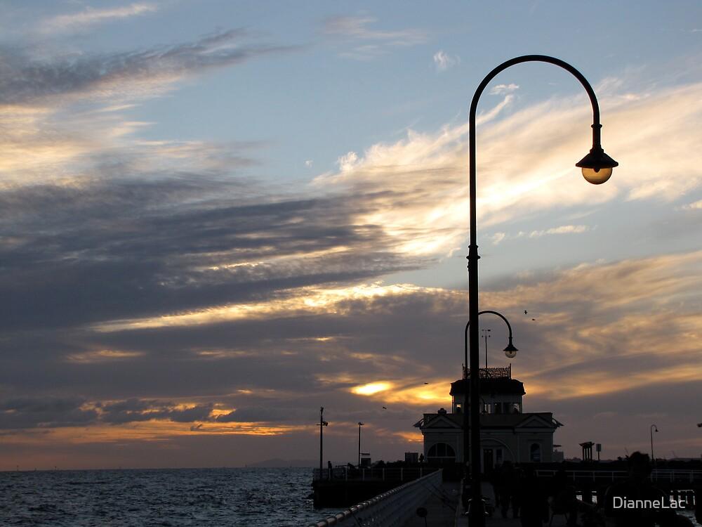Dusk on St Kilda Pier by DianneLac