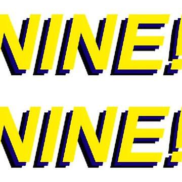 NINE! NINE! by eviedelrey