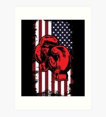4fe5d83257ac Gants de boxe patriotique USA Drapeau Boxe T-Shirt Boxer cadeau Impression  artistique