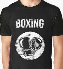 Distressed Retro Boxing Gloves Tee Boxing T-Shirt Boxer Gift Graphic T-Shirt