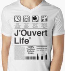 J'Ouvert Life Men's V-Neck T-Shirt
