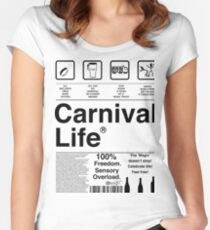 Carnival Life Women's Fitted Scoop T-Shirt