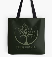 Give Back to Nature - Green Logo Tote Bag