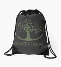Give Back to Nature - Green Logo Drawstring Bag