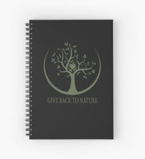 Give Back to Nature - Green Logo Spiral Notebook