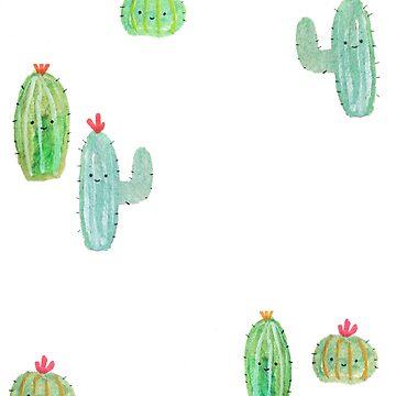 Cute Cactus Bunch by tofusan