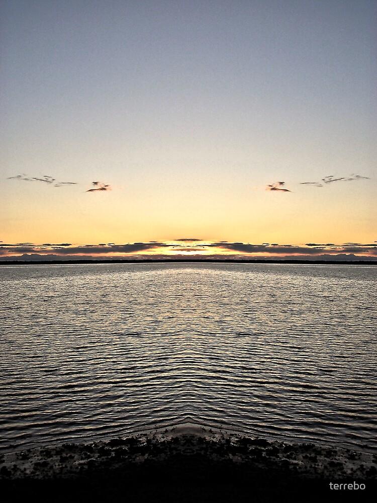 Ocean Sunset  by terrebo