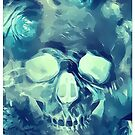 Inverted Floral Surreal Skull by Castiel Gutierrez