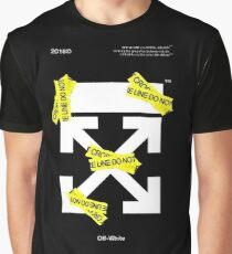 Off White Line Cross Graphic T-Shirt