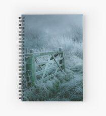 Frosty moonlit night Spiral Notebook