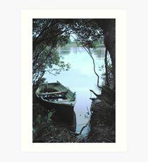 Mangrove mooring Art Print