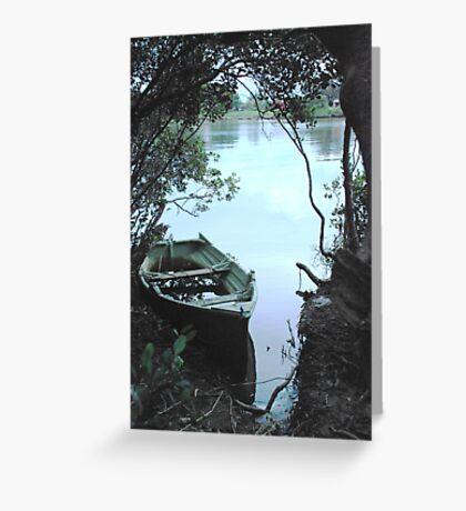Mangrove mooring Greeting Card