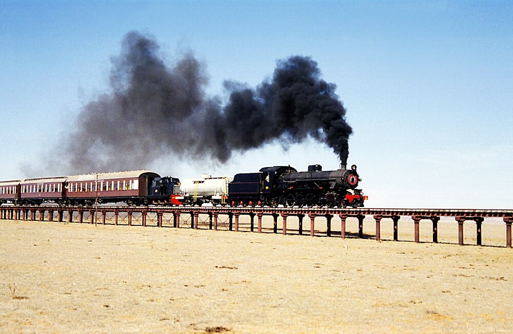 Steam train at Eurelia, South Australia by Christopher Biggs
