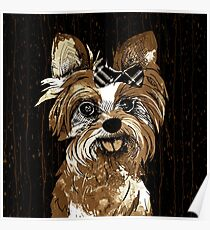 Yorkie Coffee Art Poster