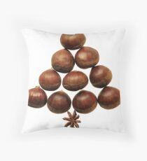 www.lizgarnett.com - Christmas Chestnuts Throw Pillow
