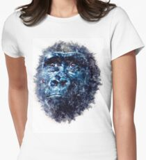 Monkey Watercolor painting Art Women's Fitted T-Shirt