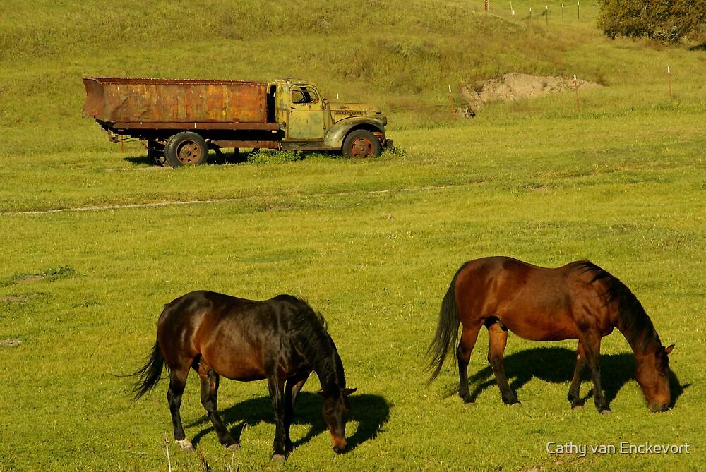 Two horse powered by Cathy van Enckevort