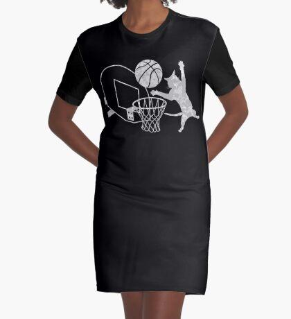 Slam Puss (Grey) Graphic T-Shirt Dress